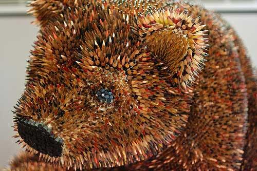 Skulpture od olovaka - Page 6 Bear_head