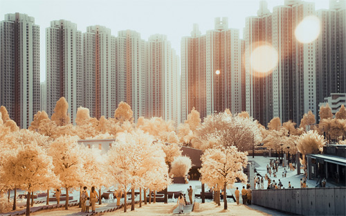 5-park-buildings-infrared-photography