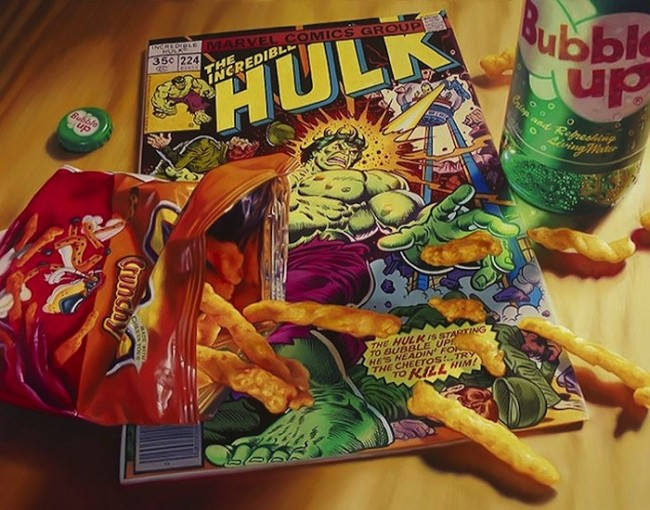 Hyper_Realistic_Paintings_Of_Old_School_Snacks_And_Comics_2014_01-650x510
